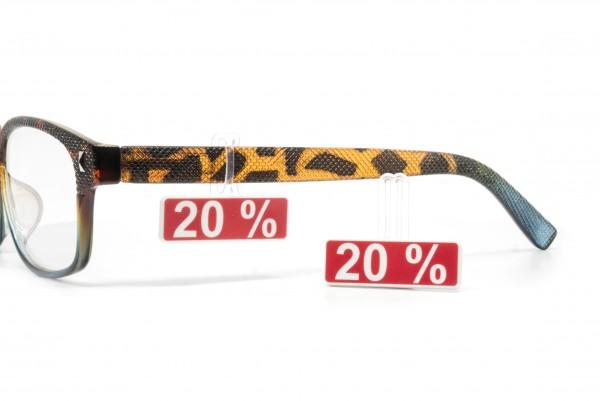 Preisauszeichnungsschild 11 x 33 mm 20%