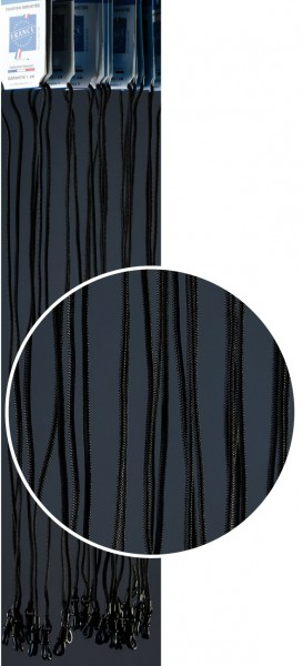 Brillenkordeln FJO gewachst schwarz