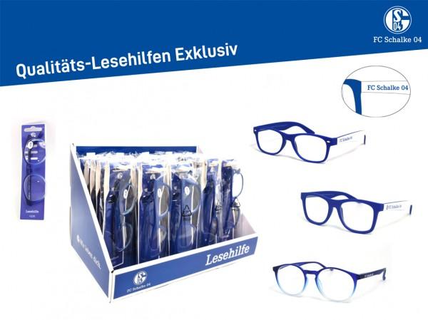 Fan-Lesehilfe mit Display 25VE. FC Schalke 04
