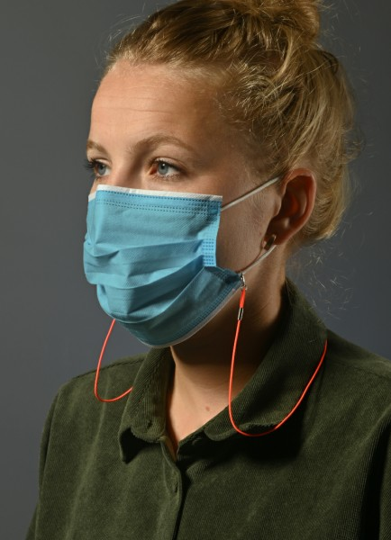 Maskenkordeln elastisch 4200 im 6er Set schwarz
