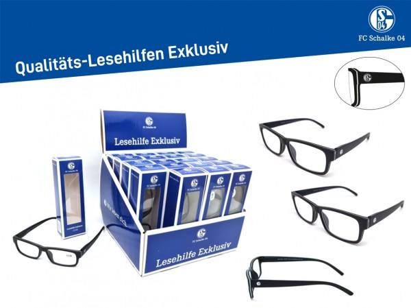 Fan-Lesehilfe mit Display 20VE. FC Schalke 04