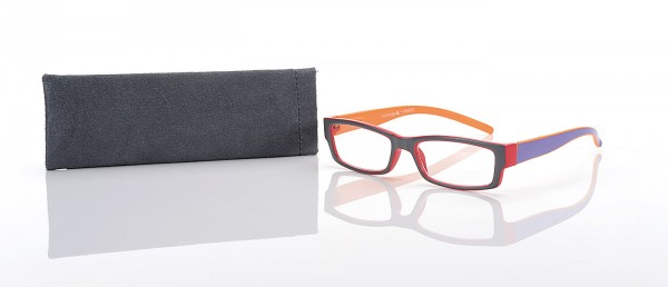 Fertiglesebrille R 66937 col.02 grau/orange