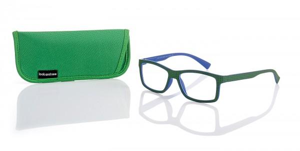 Fertiglesebrille 140907, col.1 grün-blau Stärke sort.