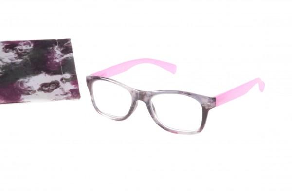 Fertiglesebrille Modell 6198 col. 01 pink-grau