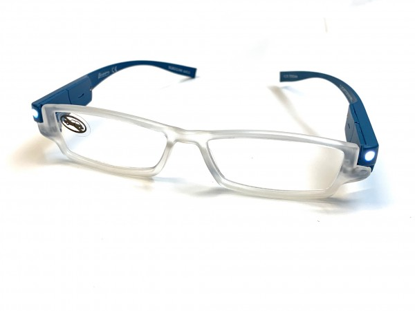 Fertiglesebrille Lights on Me LED G12 col. 44 blau +2,50