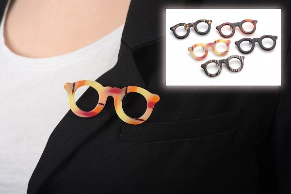 Brosche Brille 1 Set 5 Stück