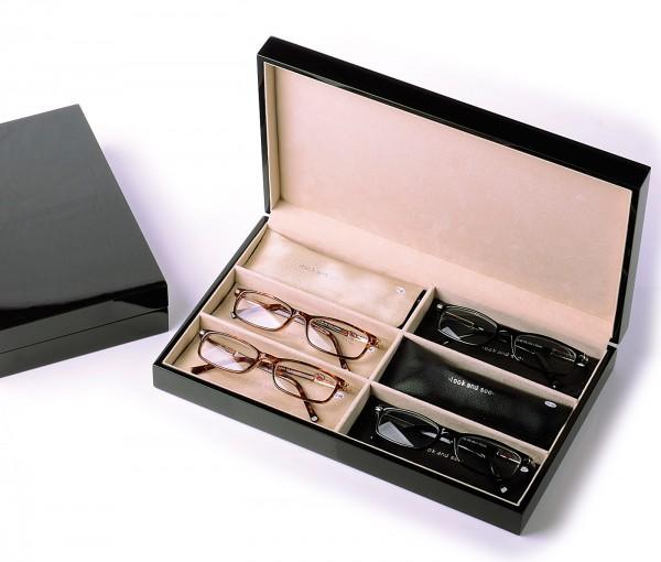 Vorlageset Holz-Klavierlack für 6 Brillen braun col. 30