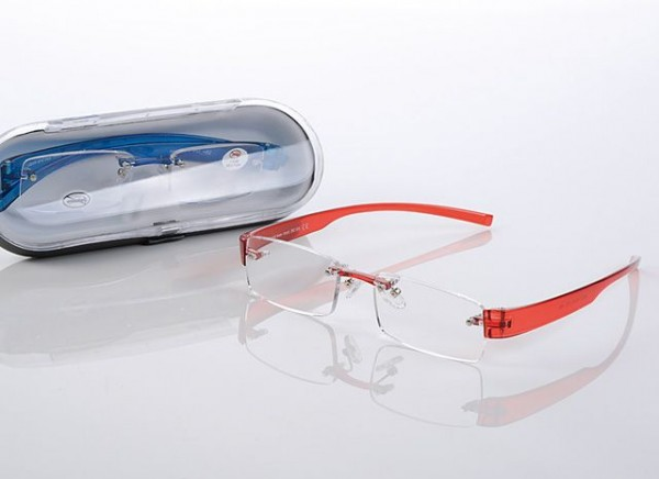 Fertigbrille 86160 TR 90 col.2 rot, Dioptrie sort.