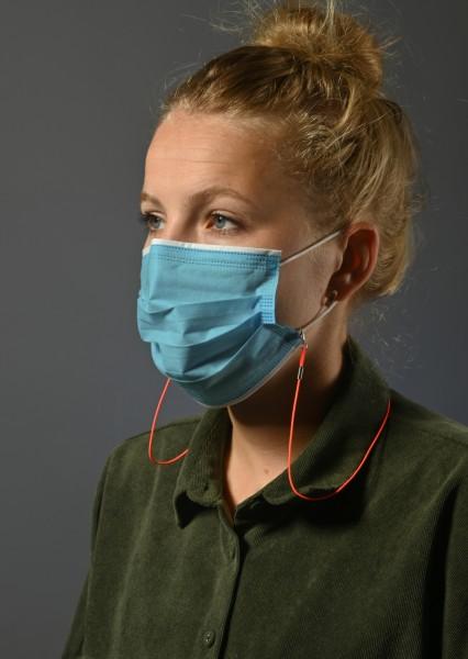 Maskenkordeln elastisch 4200 im 6er Set farbl. sortiert