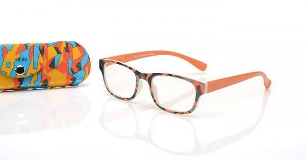 Fertiglesebrille R 67447 col. 3 orange
