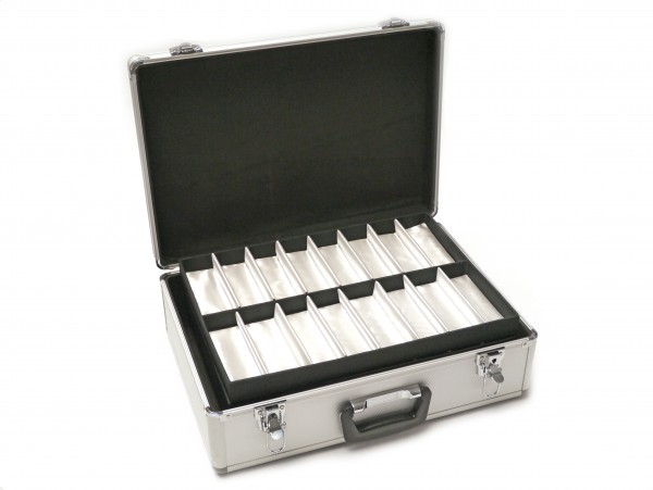 Aluminium 64er Präsentationskoffer silber