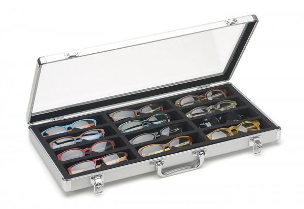 12er Koffer mit Acrylscheibe