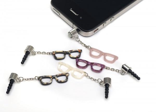 Handy Stecker mit Brille, 1 Set 5 Stück