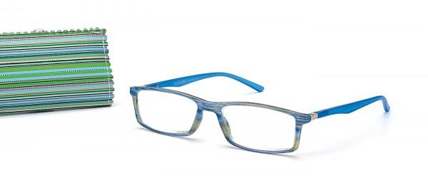 Fertiglesebrille 4961 col. 2 blau dpt. sortiert