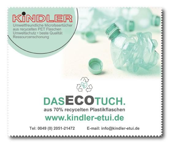 Microfasertuch ECO aus recyceltem PET 250g/m² inkl. Druck