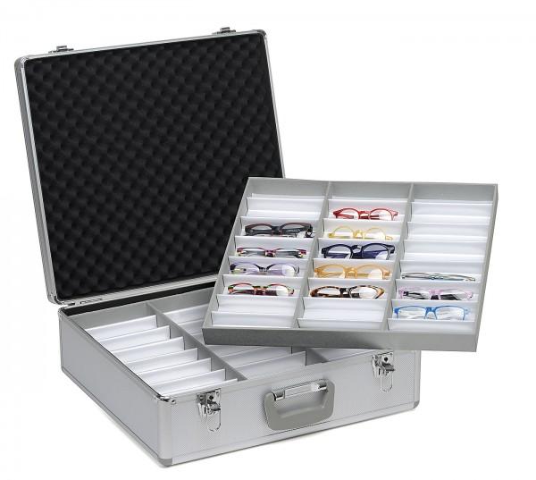 Aluminium 72er Präsentationskoffer, silber