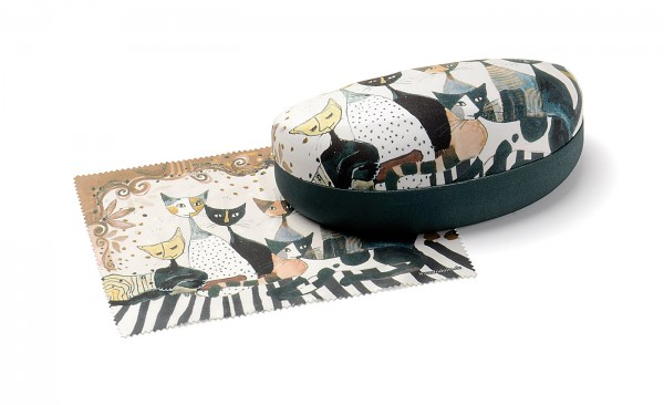 Sonnenbrillen Etui 12581 Cats, sepia