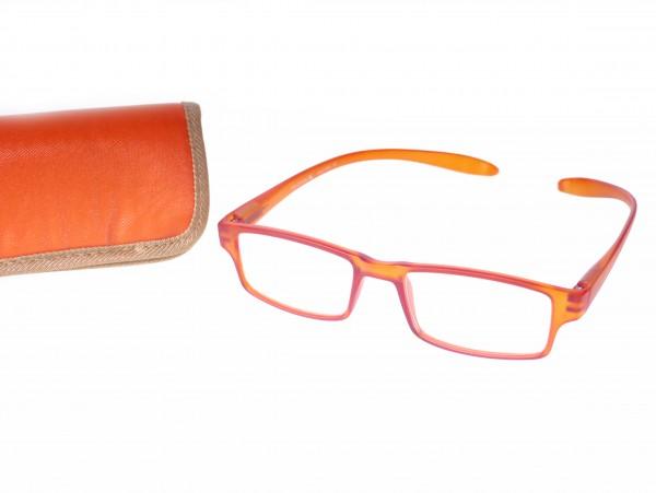 Fertiglesebrille RP 2904 col.8, orange, Dioptrie sort.