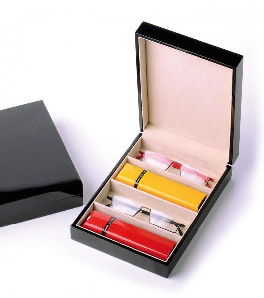 Vorlageset Holz-Klavierlack für 4 Brillen braun col.30